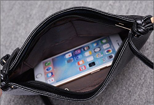 Cell Phone Crossbody ZOONAI Wallet Bag Zipper Purse Women Leather Black Shoulder 8EnU0pq