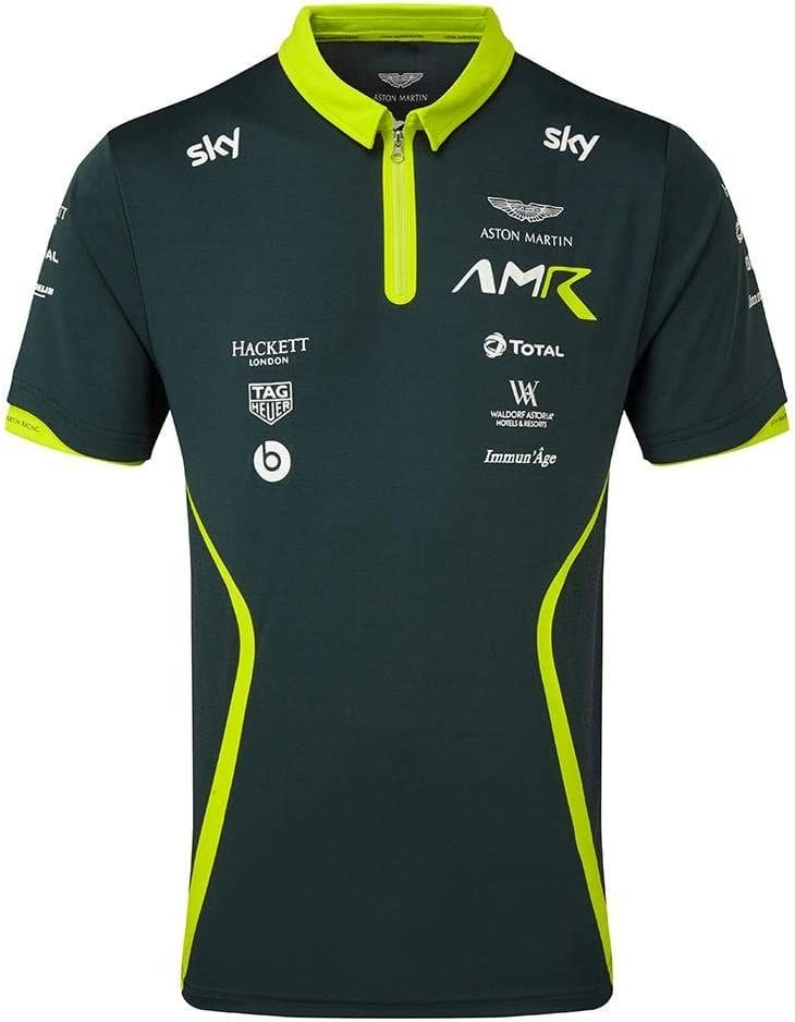 Aston Martin Racing Equipo Polo 2018 Stirling Verde L: Amazon.es ...