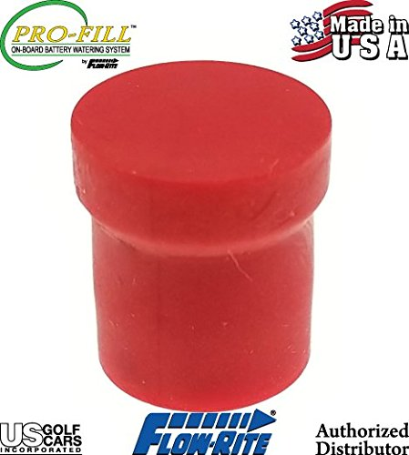 Battery Watering System BD-00280 Red End Cap for Tee Swivel by FLOW-RITE