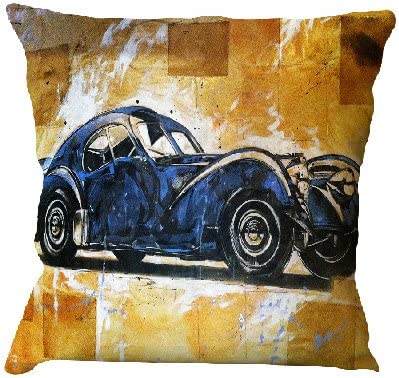 Cotton Linen Retro Cushion Cover Cool Vintage Cars Throw Pillow Cover 16x16 Square Classic Car Print Bedroom Decorative Sofa Home Decor Pillow Case By Handmade Exports Pillow Cover Amazon Ca Home Kitchen