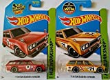 datsun wagon hot wheel - Hot Wheels Hw Workshop - '71 Datsun Bluebird 510 Wagon (Red & Yellow) Set of 2!!