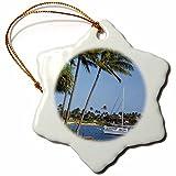 3dRose orn_144084_1 Kukuiula Landing Beach Park, Kauai, Hawaii, Usa Us12 Dpb2520 Douglas Peebles Snowflake Ornament, Porcelain, 3-Inch