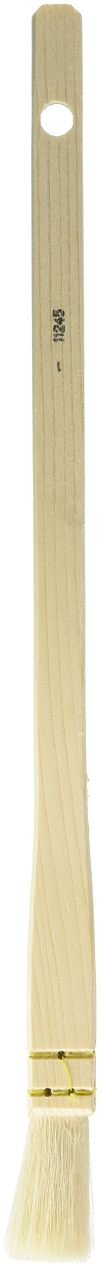 da Vinci Varnish & Priming Series 11245 Professional Hake Brush, White Goat Hair with Plainwood Handle, Size 1 (11245-1)