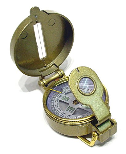 (Ruko C-112B WWI Trench Compass with a Metal Case )