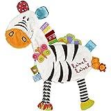 label label Friends Zebra Silky Comfort Taggie Baby Soother Blanket