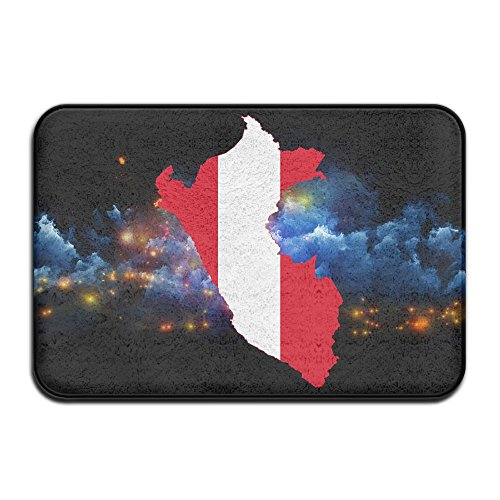 DIANDI/6 Peru Flag Map Non-slip Outdoor Patio Rugs For Bathroom Welcome Bathroom -