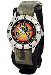Marvel Kids' MA0103-D2820-Camo Marvel 'Wolverine' Classic Time Teacher Watch