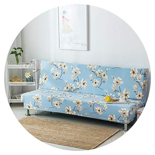 Universal Printing Armless Sofa Bed Cover Folding seat slipcover Modern Stretch Covers Couch Protector Elastic Futon Cover,6347,190-215cm