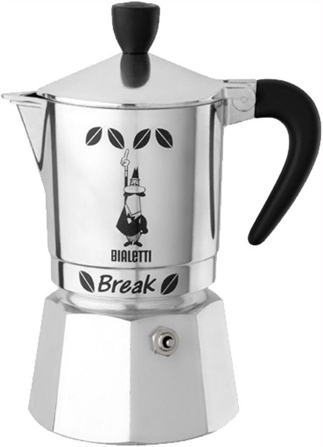 Bialetti Break - Cafetera italiana (3 tazas), color negro: Amazon.es: Hogar