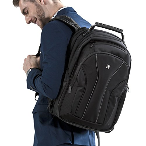 2013 Approach Pack (Laptop Backpack, LEVEL8 Business Backpack fits 15.6 Inch laptop/notebook Computer Backpack, Backpack for MacBook Pro/Air, Water-resistant Travel Backpack for men/women, Black)