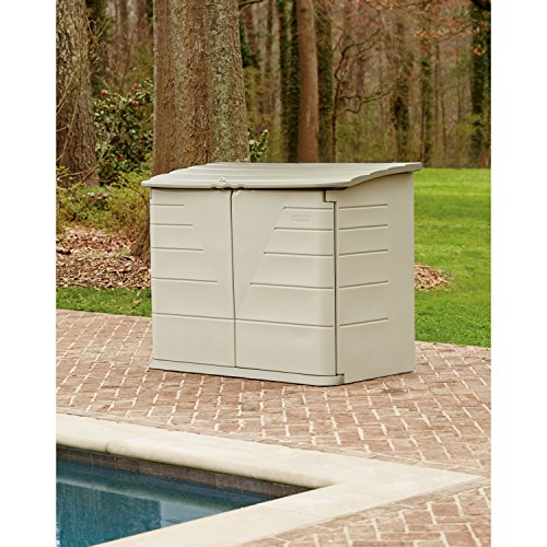 Rubbermaid outdoor horizontal storage shed large 32 cu for Horizontal storage shed