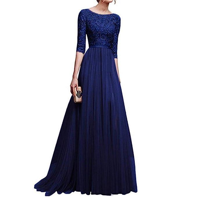 POLP Vestidos Largo Mujer ◉ω◉ Elegantes Tallas Grandes Vestidos,Fiesta Falda Espalda Abierta