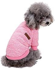 GabeFish Dogs Clothes Pullover Fleece Hoodie for Small Medium Puppy Pets Cats Autumn Winter Apparel Sweatshirt Pink Medium