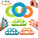 Hand Strengthener Bands,Finger Stretcher Hand Resistance Grip Rings - Extender Exerciser Strengtheners Trainer for Muscle Built, Physical Therapy, Office Stress Relief