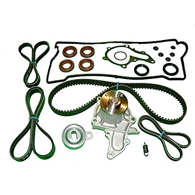 Timing Belt Kit for Toyota Corolla 1.6L (1993 1994 1995 1996 1997) TIMING BELT WATER PUMP TENSIONER AND SPRING VALVE COVER SET AND DRIVE BELTS: Automotive