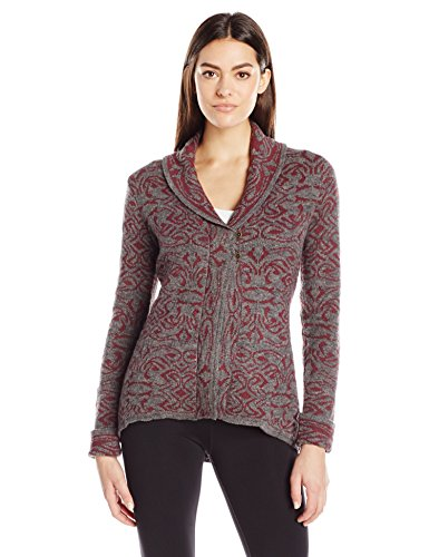 Royal Robbins Women's Autumn Rose Cardigan Sweater,BEET,Small