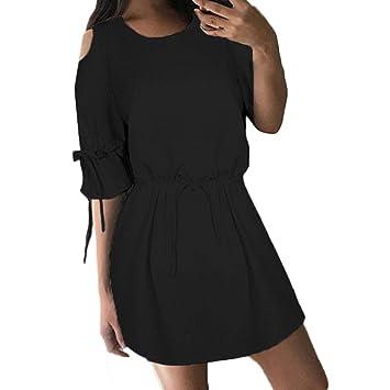 FuweiEncore Vestido de Playa Corto Casual para Mujer (Color : Negro, tamaño : Small): Amazon.es: Hogar