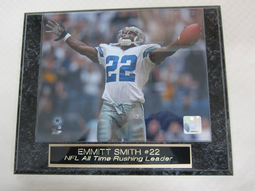 Emmitt Smith Dallas Cowboys Engraved Collector Plaque #1 w/8x10 Color Photo ALL TIME RUSHING KING