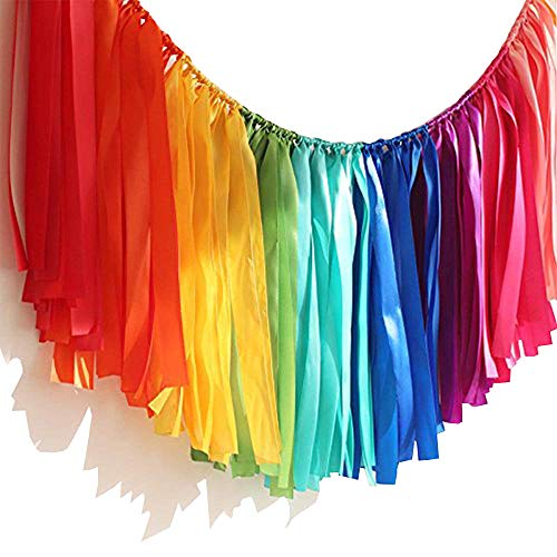 Tassel Ribbon - Handmade Colorful Ribbon Tassel Garland Already Assembled for Wedding Baby Shower Event Birthday Party Supplies Decoration 40