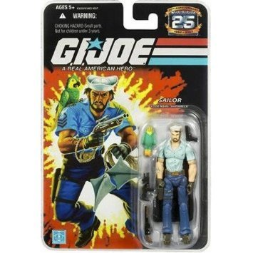 G.I. Joe 25th Anniversary SHIPWRECK Action Figure Variant with Rare Shark Tattoo 3.75 Inch