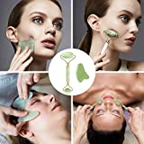 Jade Roller for the Face with Massager and
