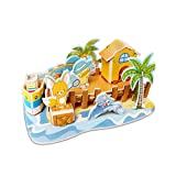 WaiiMak Kids Gifts, Paper Board Puzzle Early Learning Construction Assemble Children Home Decoration (F)