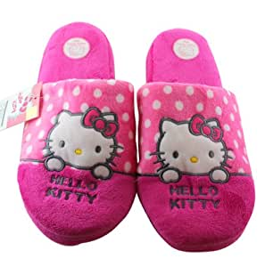 Pink Hello Kitty Slippers Pantuflas Sandalias - Hello Kitty Peluche Slippers