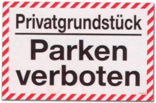 Cartel - propiedad privada se prohíbe aparcar - propiedad ...