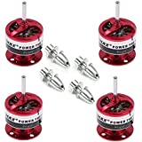 powerday Cf2822 1200kv Brushless Motor for Multicopter Quadcopter& 3.0mm propeller adapter suitable for all models of 300-400 size(pack of 4)