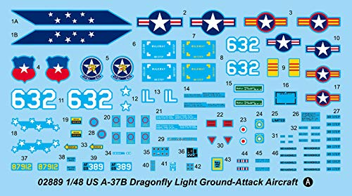 Trumpeter US A-37B Dragonfly Model Kit