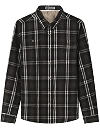 "<span class=""a-offscreen"">[Sponsored]</span>Men's Long Sleeve Button Down Collar Plaid Flannel Shirt With Pocket"
