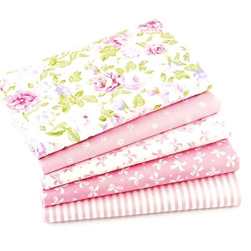 Pink Series Cotton Patchwork Fabric Bundle For DIY Sewing Textiles tilda Quilting Tissue 40x50cm (5 pcs)