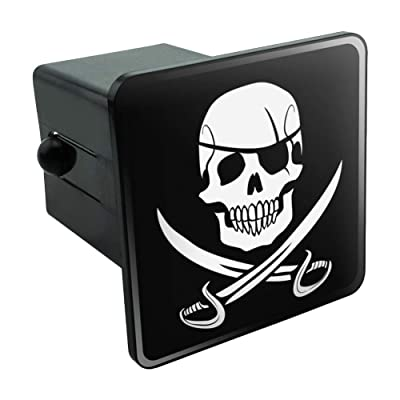 """Graphics and More Pirate Skull Crossed Swords Jolly Roger Tow Trailer Hitch Cover Plug Insert 2"""": Automotive"""