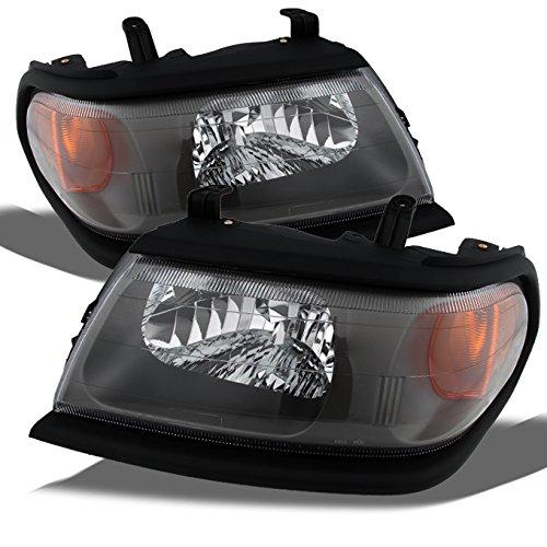 For Mitsubishi Montero Sport OE Replacement Amber Black Bezel Headlights Driver/Passenger Head Lamp Pair