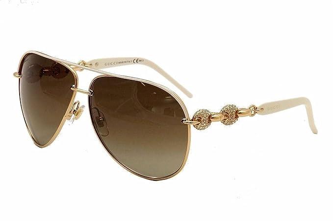 8bfd340b10 Gucci Women s 4230 S Metal Aviator Sunglasses