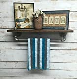 Industrial bathroom shelves, industrial shelf, industrial shelves, Rustic bathroom shelf, Iron Pipe shelves, wall hanging, industrial decor