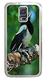 custom made Samsung Galaxy S5 case Beautiful Bird Animal PC Transparent Custom Samsung Galaxy S5 Case Cover