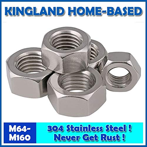 Nuts 304 Stainless Steel Fasteners DIN934 Hex Nut Metric Thread M64-M160 Hexagon PC Electronic Accessories Tools LM001 - (Size: M110)