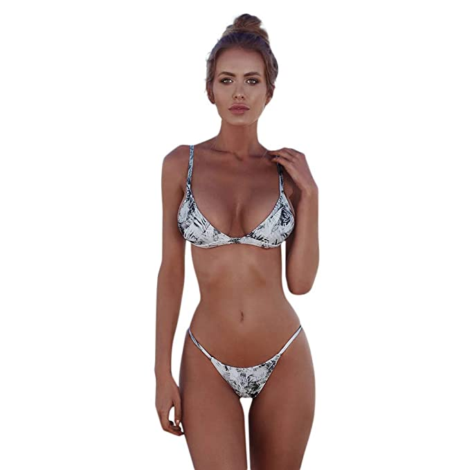 Bikini Mujer Vendaje Conjunto Push-Up Traje De Baño ...