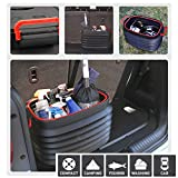 37L Car Collapsible Car Trunk Organizer and Storage Box,Portable Outdoor Folding Pail Fishing Cleaning Bucket Car Trunk Organizer for Camping Picnic Traveling