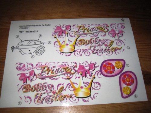 BIG Stickersatz Aufkleber Anh/änger Trailer Princess Spielzeug
