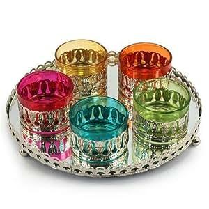 Bandeja con 5 Vasos Colores