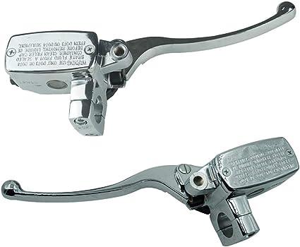 CBFYKU 1 25mm Moto Gauche Et Droite Frein Embrayage Ma/ître Cylindre R/éservoir Leviers pour Honda Magna VT250 Ombre VT750 1100 VTX1300 color/é : Argent, Taille : Right