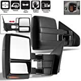 Scitoo Fit 2004-14 Ford F150 Truck Left/Right Side Mirror Power Heated Led Signal Puddle Light Towing Mirrors Pair
