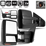 Scitoo Fit 2004-14 Ford F150 Truck Left Right Side Mirror Power Heated Led Signal Puddle Light Towing Mirrors Pair