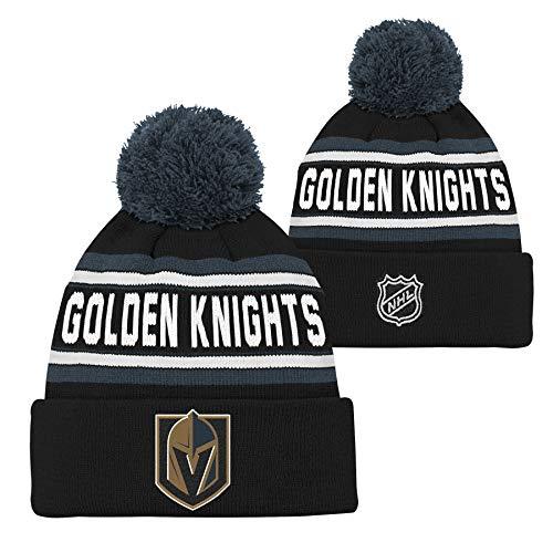 5abb02a8bef Las Vegas Golden Knights Youth Woodark Jacquard Cuff Pom Winter Hat