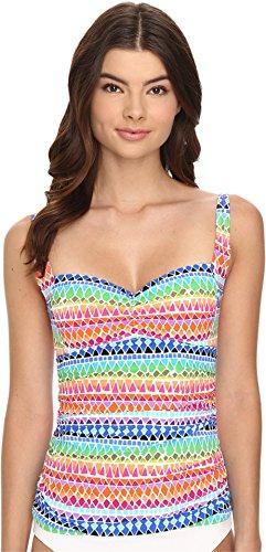 La Blanca Women's Full Spectrum Over The Shoulder Tankini, Multi Colored, 6