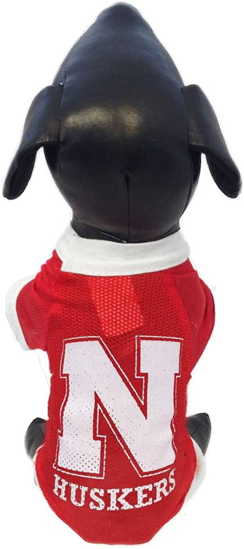 Medium Littlearth NCAA Nebraska Cornhuskers Pet Dress
