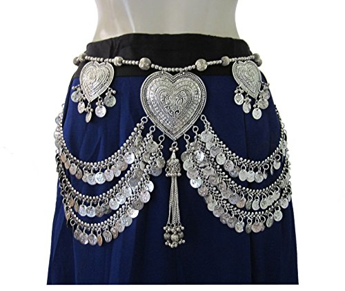 Tribal Belt Oxidized Vintage Festival Bohemian Womens Fashion Belly (Belly Dance Costumes Tribal Fusion)