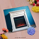 VROSELV Custom Cotton Microfiber Ultra Soft Hand Towel-black electric fireplace with decoration photographed in the interior Custom pattern of household products(14''x14'')